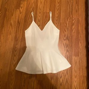 H&M white peplum shirt worn once !